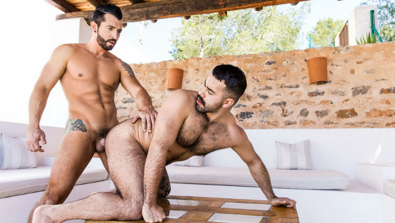 Jimmy Durano gets to pound Teddy Torres' hot and hairy hole at Men.com