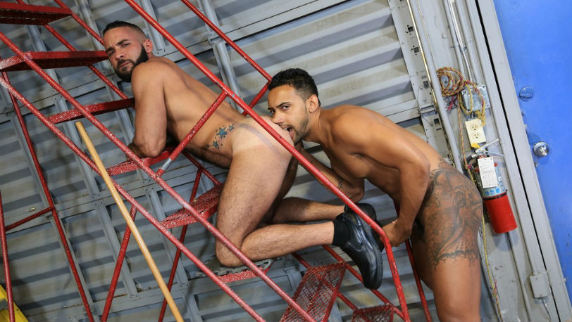 Jay Alexander drives his big cock deep inside Fernando Del Rio's ass at Pride Studios