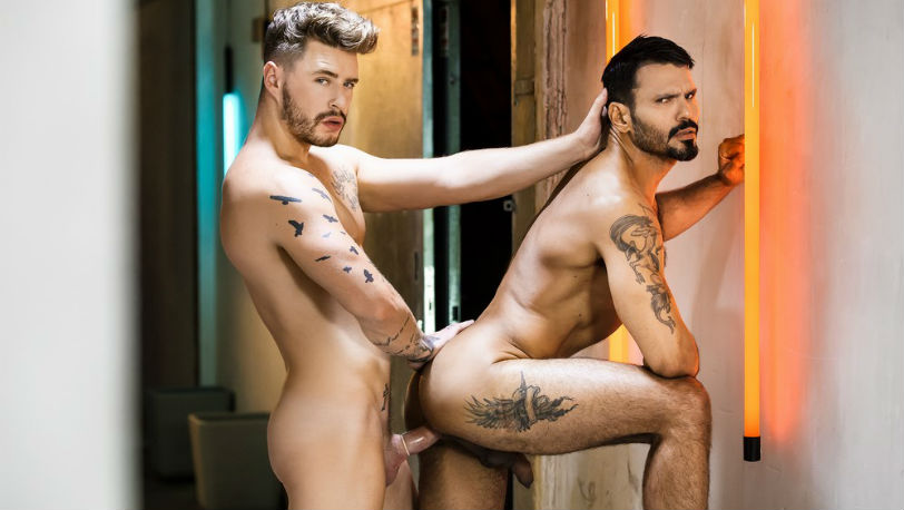 "Jean Franko and Josh Moore flip-fuck in ""Fucked Up Fuckers"" part 3 at Men.com"