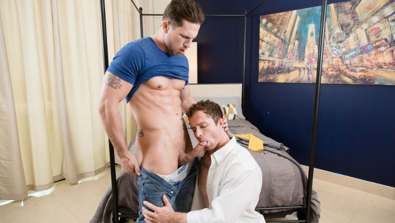 Muscle hunk Roman Todd fucks Markie More hard from behind at Next Door Studios