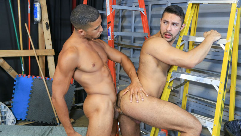 Mike Maverick drives his hard cock deep into Seth Santoro's beautiful round ass at Pride Studios