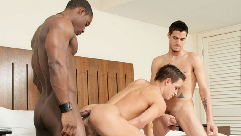 Cody Kyler and Cayden Cooper get fucked by DeAngelo Jackson at MixItUpBoy