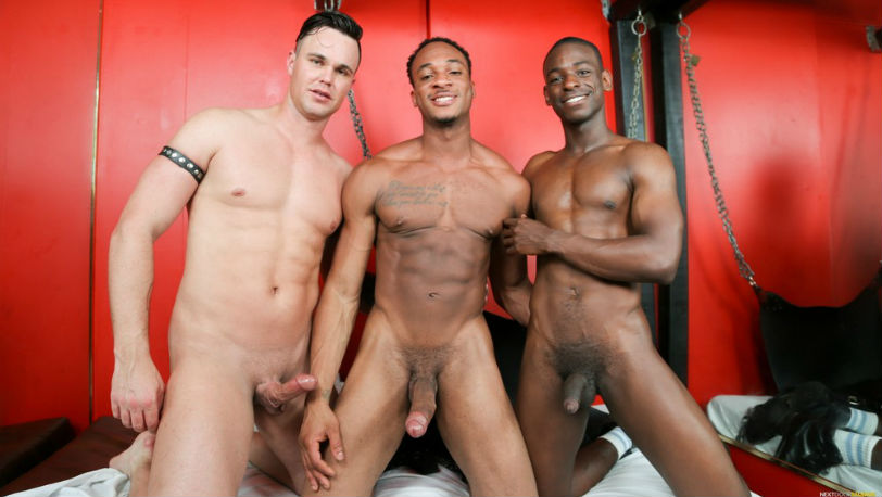 Trent King, Beau Reed and River Wilson in a hot threesome at Next Door Studios
