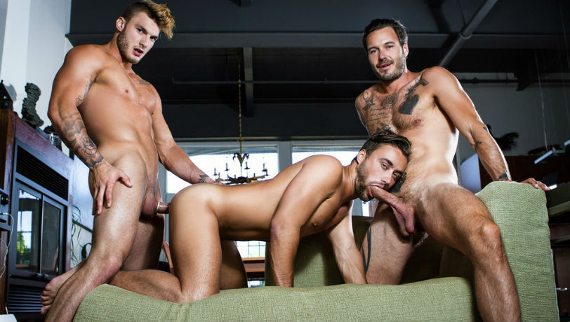 "William Seed, Zack Hunter, Samuel Stone and Dean Stuart in ""The Guys Next Door"" from Men.com"