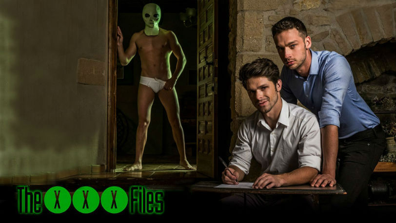 "Bogdan Gromov, Devin Franco and Damon Heart in ""The XXX Files"" from Lucas Entertainment"