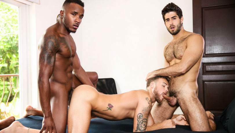 Diego Sans and Pheonix Fellington have their way with Max Wilde at Men.com