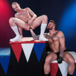 Sam Syron moans and begs for Hugh Hunter to go deeper inside at Club Inferno Dungeon