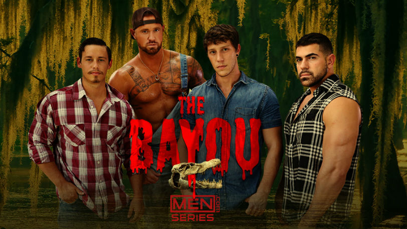 "Tobias, Paul Canon, Damien Stone and Michael Roman in ""The Bayou"" from Men.com"