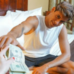 Muscle hunk Titus goes down for some hard earned cash at Reality Dudes