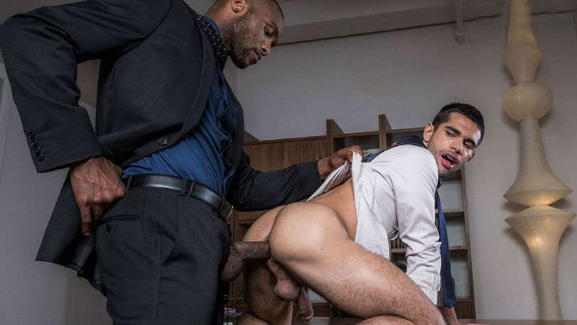 "Ty Mitchell and Andre Donovan in ""Gentlemen : Top Management"" from Lucas Entertainment"