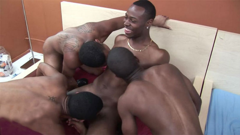 Hot foursome with Justin Kace, Lafayette, Ciroc Star and Tony Lavon at CocoDorm