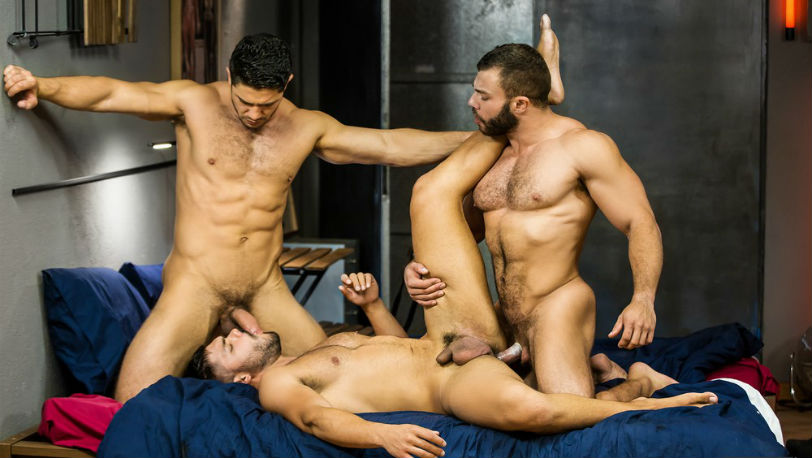 "Nicolas Brooks, Dato Foland and Diego Reyes in ""The Boy Is Mine"" part 3 at Men.com"