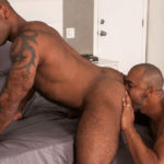"""Muscle hunks Daymin Voss and Jason Vario flip-fuck in """"Big Brother"""" part 2 from Titan Men"""