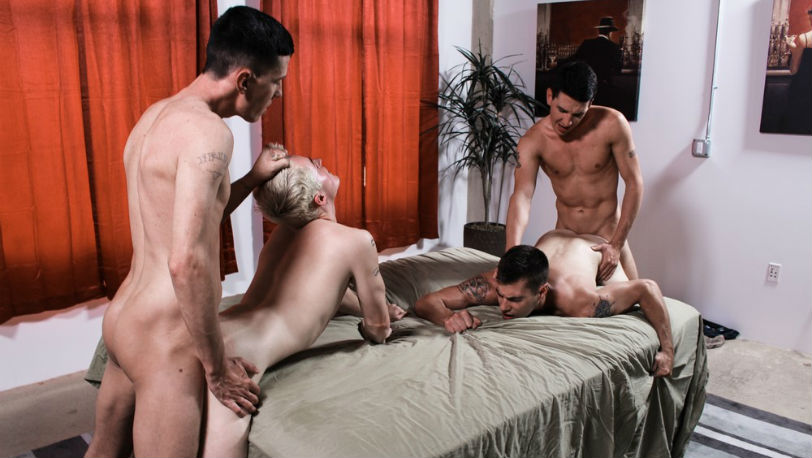 Michael Stax and Jacob Stax love to pound Dominic and Princeton Price deep en hard - Active Duty