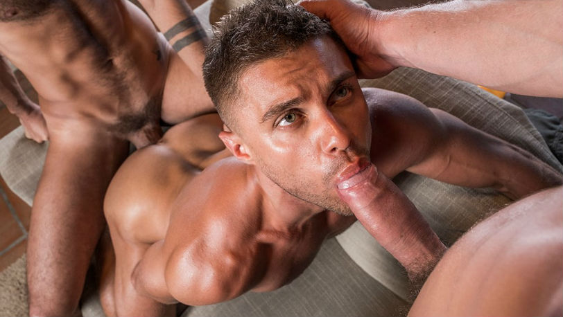 "Klim Gromov, Andrey Vic and Patrick Dei in ""Raw Double Penetrations"" at Lucas Entertainment"