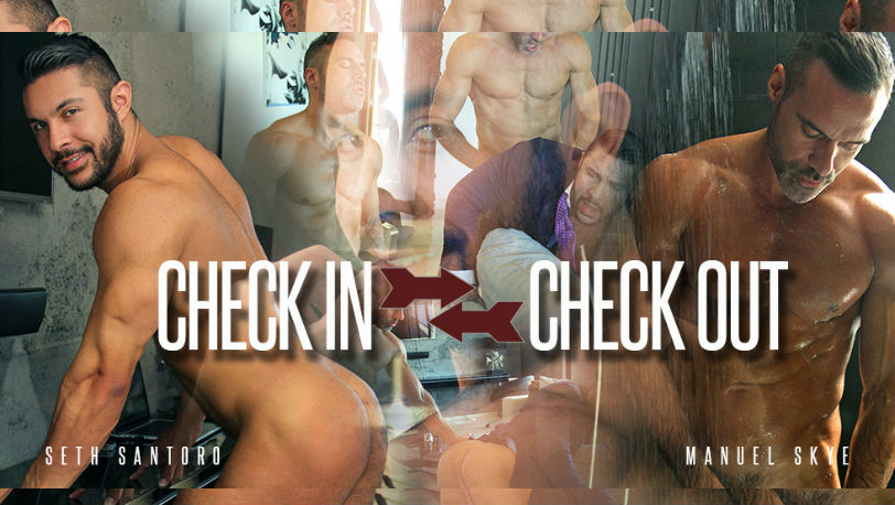 "Manuel Skye and Seth Santoro are so flaming hot in ""Check in / Check out"" from Men at Play"