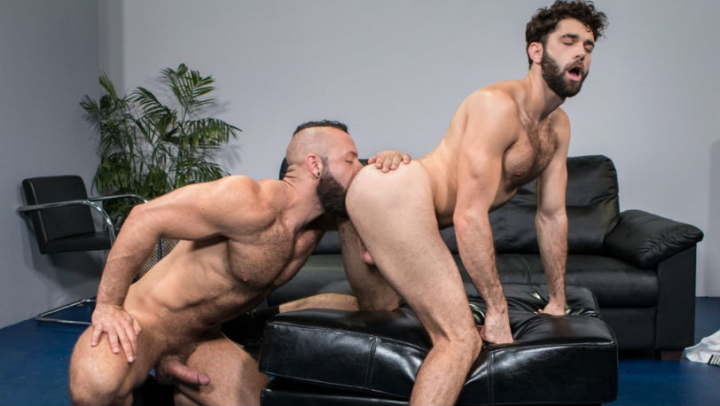 "Tegan Zayne takes a pounding from Eddy Ceetee in ""TSA Checkpoint"" part 2 from Raging Stallion"