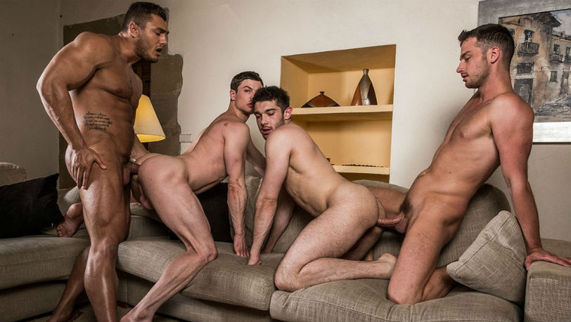 Ben Batemen, Ruslan Angelo, Brock Magnus and Damon Heart at Lucas Entertainment