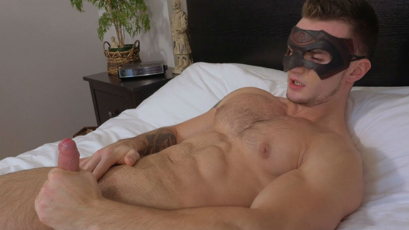 Young muscle hunk Jackson Stock is back for his second scene on Maskurbate