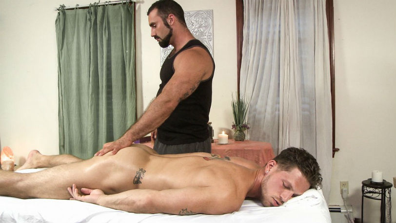 "Jaxton Wheeler fucks Roman Todd into exhaustion in ""A Firm Touch"" from Icon Male"