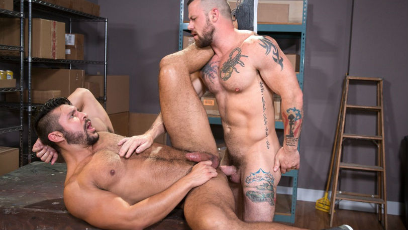 "Seth Santoro gets fucked by Sergeant Miles in ""24 Hour Boner"" part 4 from Raging Stallion"