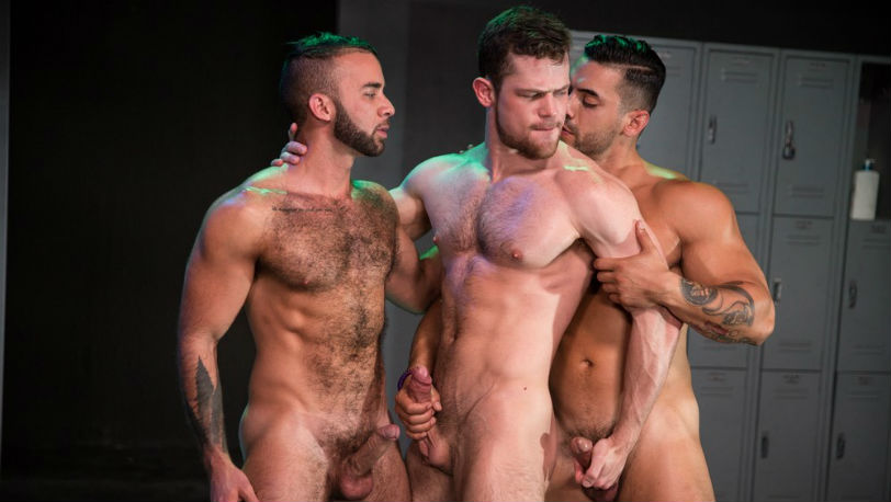 "Kurtis Wolfe, Arad WinWin and Fernando Del Rio in ""Clothing Optional"" part 2 from Raging Stallion"