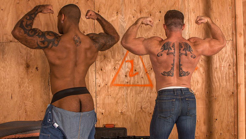 "Liam Knox and Daymin Voss flex and show off their tattoos in ""BEEF"" part 1 from Titan Men"