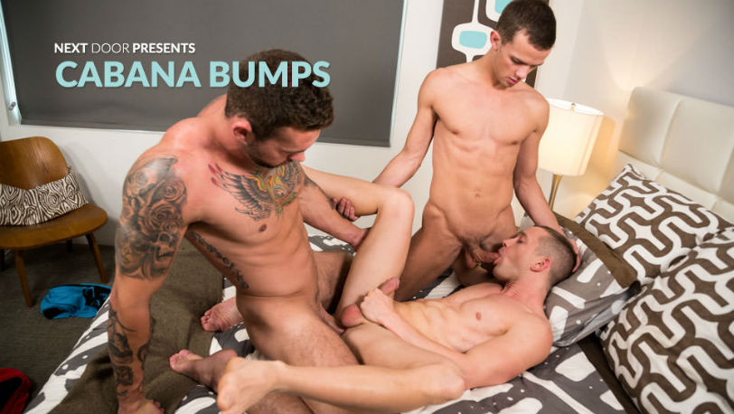 "Cameron Dalile, Logan Cross and Steve Rogers in ""Cabana Bumps"" from Next Door Studios"