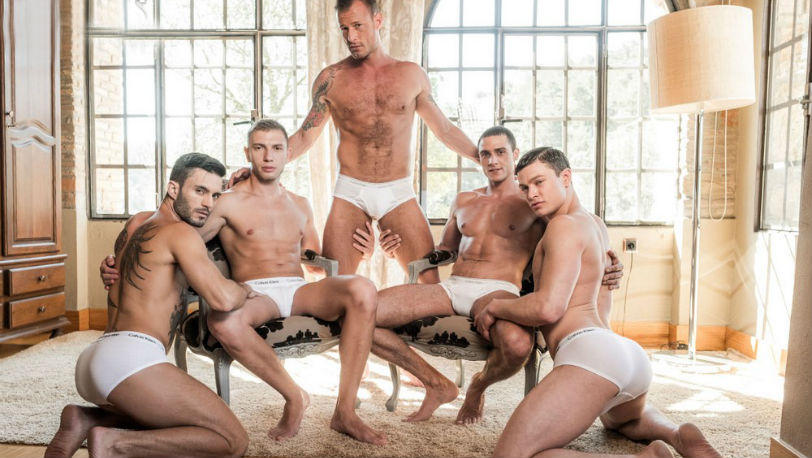 Ruslan Angelo, Bogdan Gromov, Logan Rogue, Javi Velaro and Andy Star at Lucas Entertainment