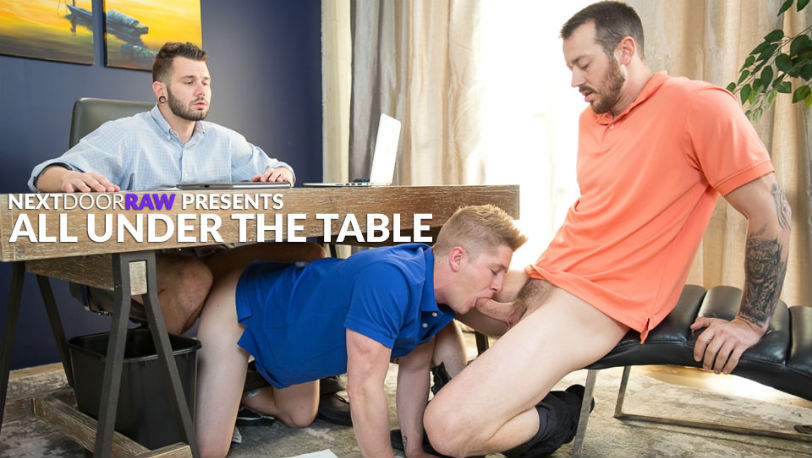 """Johnny Hill, Chris Blades and Mark Long in """"All Under the Table"""" from Next Door Raw"""