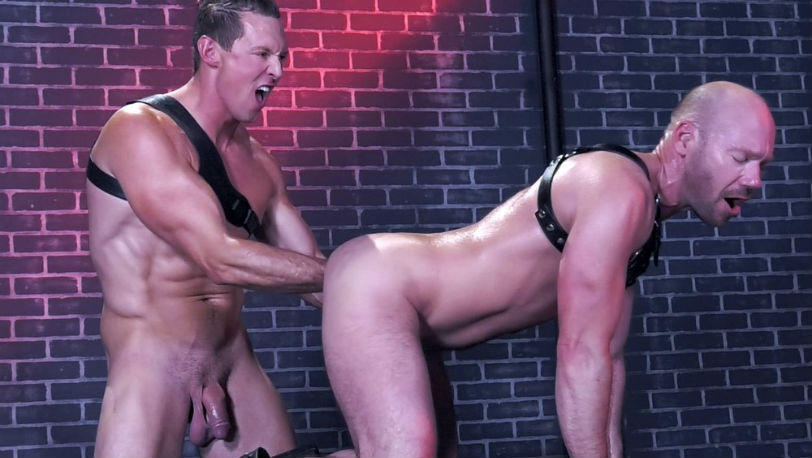 "Mike Tanner and Pierce Paris in ""Fistin Alley"" part 2 from Club Inferno Dungeon"