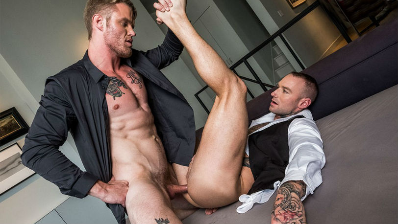 "Shawn Reeve and Dylan James in ""Gentlemen 22 : Jizz is the Bizz"" at Lucas Entertainment"