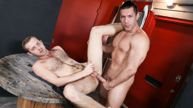 "Alexander Garrett and Chandler Scott in ""Yes Sir! I Want Your Cock!"" from Pride Studios"