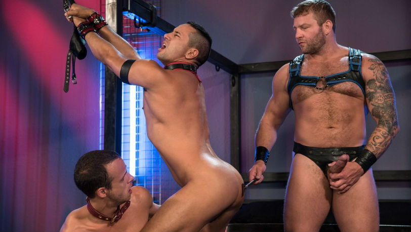 "Colby Jansen, Nate Grimes and Gabriel D'Alessandro in ""Fetish Findr"" part 5 from Fetish Force"