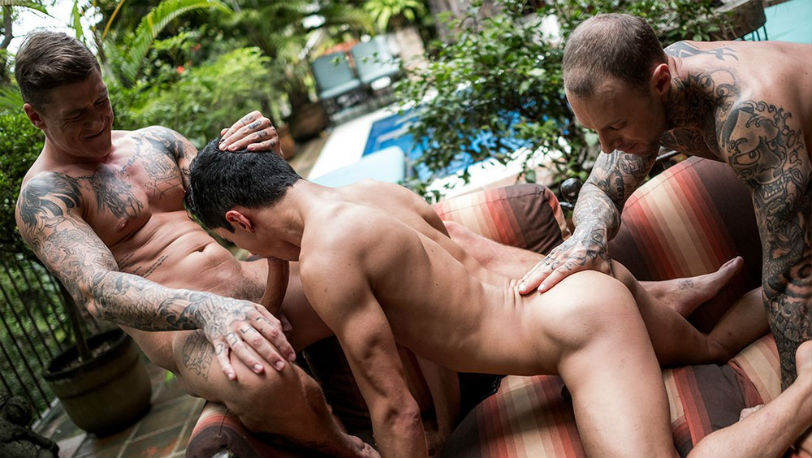 "Joaquin Santana, Dylan James and Geordie Jackson in Take it Boy"" part 2 at Lucas Entertainment"