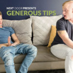 "Ty Thomas shoves his cock deep inside Leo Luckett in ""Generous Tips"" at Next Door Studios"