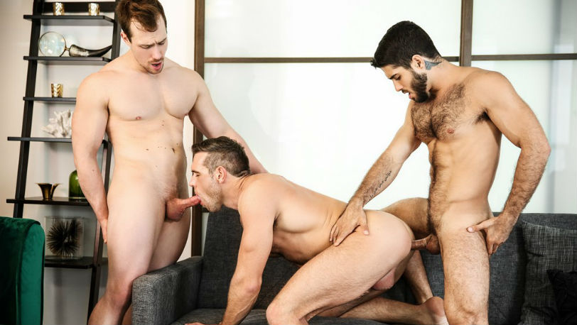"Diego Sans, Alex Mecum and Blake Hunter in ""Couples Counseling"" part 2 from Men.com"