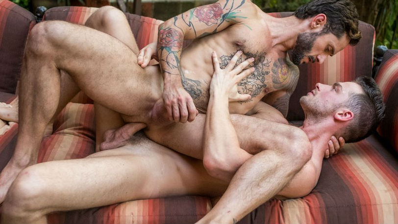 "Rod Fogo gets fucked by Damon Heart in ""Raw Dogged"" part 4 from Lucas Entertainment"
