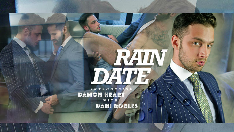 "Suited hunk Dani Robles gets fucked by Damon Heart in ""Rain Date"" from Men at Play"