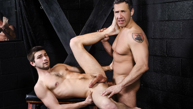 "Dean Phoenix follows Johnny Rapid into a sex dungeon in ""Daddy's Dungeon"" at Men.com"