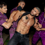 "Arad Winwin, Dato Foland, Levi Karter and François Sagat in ""FLEA PIT"" part 3 from CockyBoys"