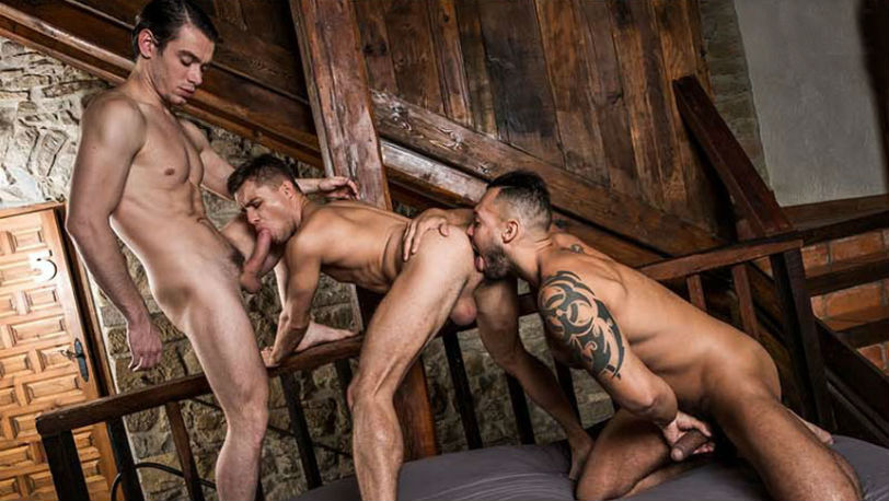 "Viktor Rom fucks his boys, Klim Gromov and Jon Bae in ""Take it Boy"" part 4 at Lucas Entertainment"