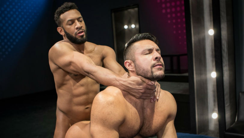 "Seth Santoro & Jay Landford are horny as hell in ""Shut Up and Fuck Me!"" part 2 at Raging Stallion"