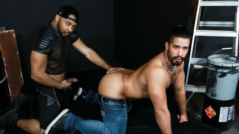 "Trey Turner and Ray Diesel in ""Big Cock In The Back Room"" from Pride Studios"