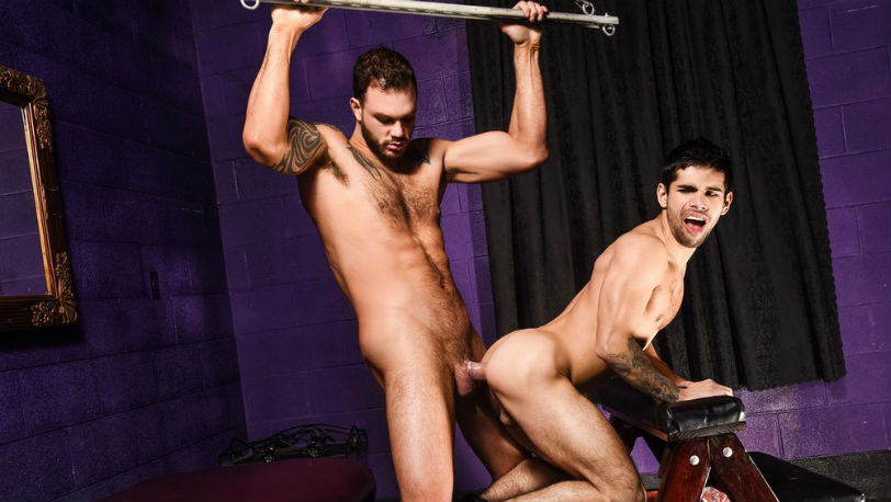 "Ty Mitchel needs a ride and Cliff Jensen gives him one in ""Daddy's Dungeon"" part 3 at Men.com"