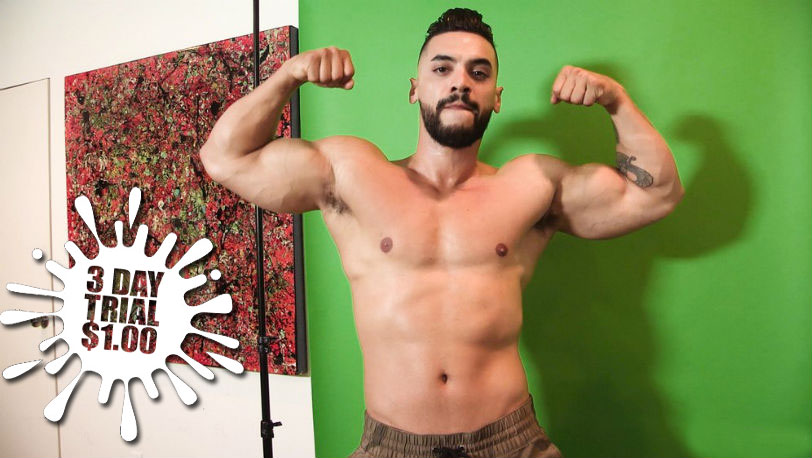 Muscle hunk Arad Winwin is amazing as always in this hot solo for Maskurbate