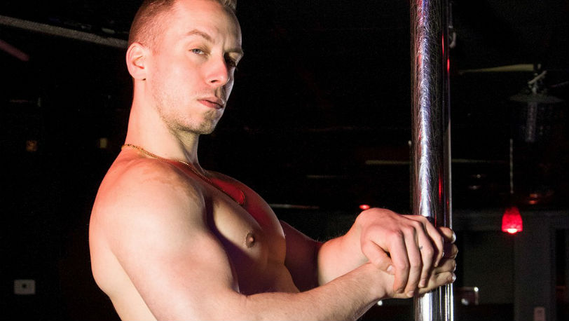 "Muscle hunk Bruno is hot and ready to blow in a new ""Strip Club"" from Reality Dudes"