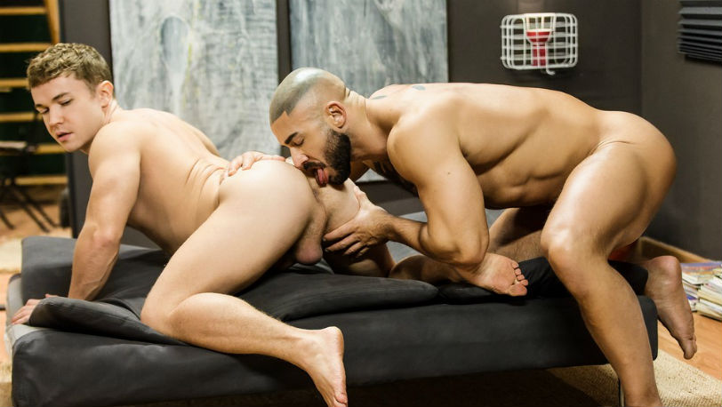 "Gabriel Cross wishes to be with muscle hunk Francois Sagat again in ""Elixir"" part 3 from Men.com"