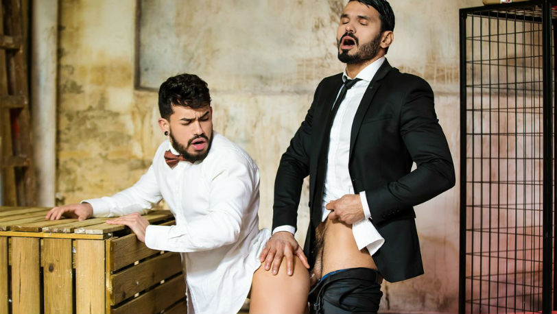 """Pietro Duarte comforts Jean Franko with a bit of ass in """"Last Chance"""" part 3 from Men.com"""