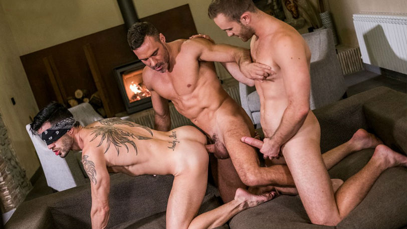 Top-daddy Manuel Skye fucks Jackson Radiz and Andy Star at Lucas Entertainment